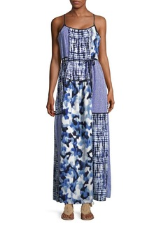JONES NEW YORK Patchwork Maxi Dress