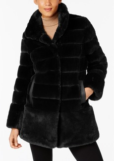 Jones New York Petite Faux-Fur Seamed Coat