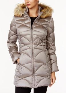 Jones New York Petite Faux-Fur-Trim Down Coat