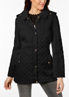 Jones New York Petite Hooded Quilted Coat