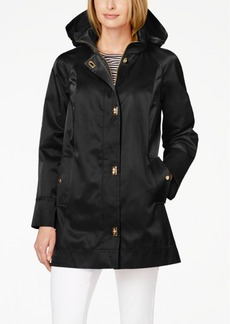 Jones New York Hooded Turnlock Raincoat