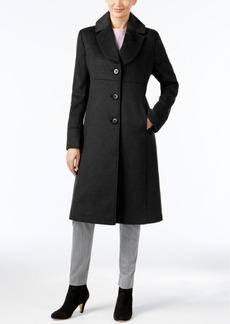 Jones New York Petite Notch-Collar Walker Coat