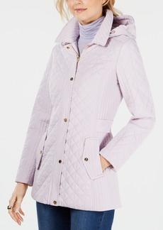 Jones New York Petite Quilted Hooded Coat