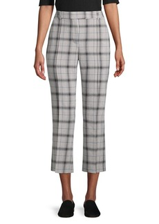 JONES NEW YORK Plaid Cropped Pants