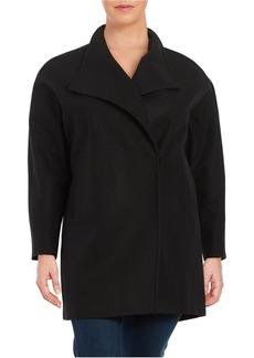 JONES NEW YORK PLUS Plus Wool-Blend Oversized Collar Coat