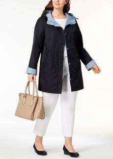 Jones New York Plus Size Colorblocked Raincoat