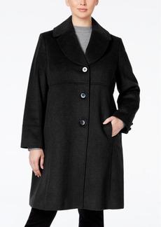 Jones New York Plus Size Empire-Waist Wool-Blend Walker Coat
