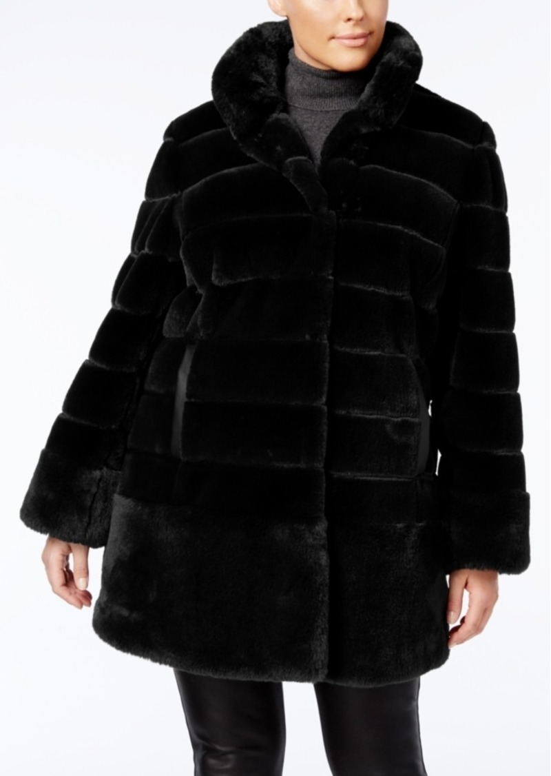 a2f1a7e3996 Jones New York Jones New York Plus Size Faux-Fur Coat