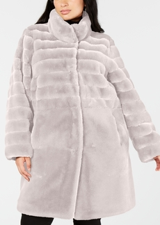 Jones New York Plus Size Faux-Fur Coat
