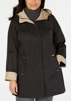 Jones New York Plus Size Hooded A-Line Raincoat