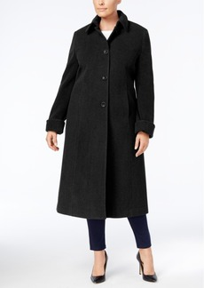 Jones New York Plus Size Maxi Walker Coat