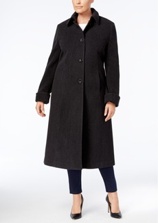 Jones New York Plus Size Maxi Walker Coat