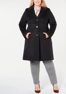 Jones New York Plus Size Notch-Collar Walker Coat