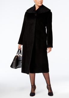 Jones New York Plus Size Textured Maxi Walker Coat