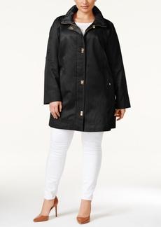 Jones New York Plus Size Turnlock Coat