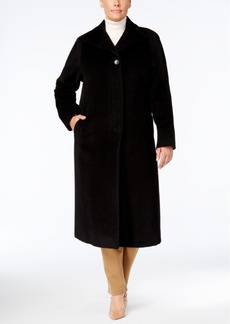 Jones New York Plus Size Wool-Blend Maxi Walker Coat