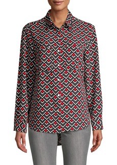 JONES NEW YORK Printed Button-Front Shirt