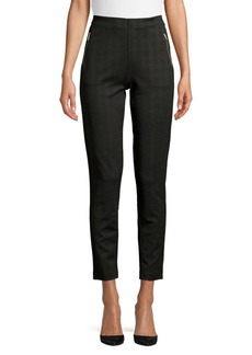 JONES NEW YORK Printed Zip-Pocket Ankle Pants