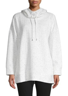 JONES NEW YORK Quilted Pullover Hoodie