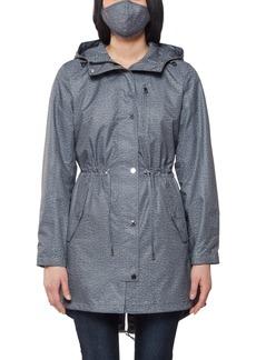 Jones New York Rain Tech Hooded Anorak Raincoat
