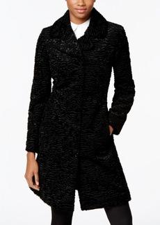 Jones New York Reversible Faux-Persian Fur Walker Coat