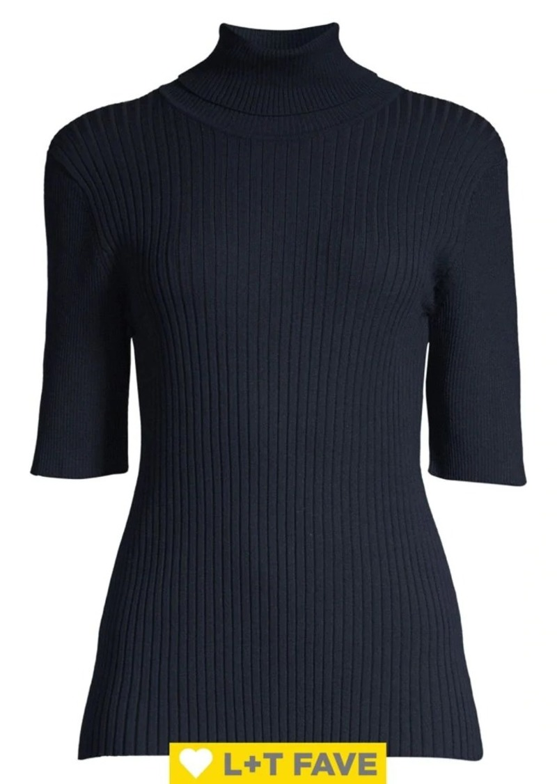 JONES NEW YORK Rib Turtleneck Sweater