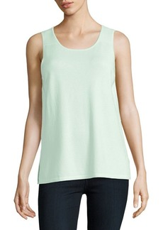 JONES NEW YORK Ribbed-Shoulder Shell Top