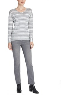 Jones New York Ribbed Striped Top