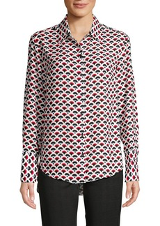 JONES NEW YORK Scallop-Print Shirt
