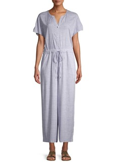 JONES NEW YORK Short-Sleeve Drawstring Jumpsuit
