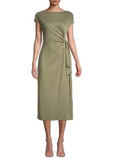 JONES NEW YORK Side-Tie Midi Dress