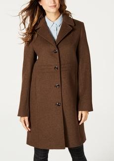 Jones New York Single-Breasted Notch-Collar Coat
