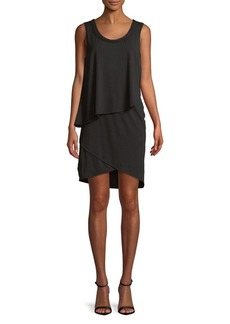 JONES NEW YORK Sleeveless Asymmetric Layered Dress