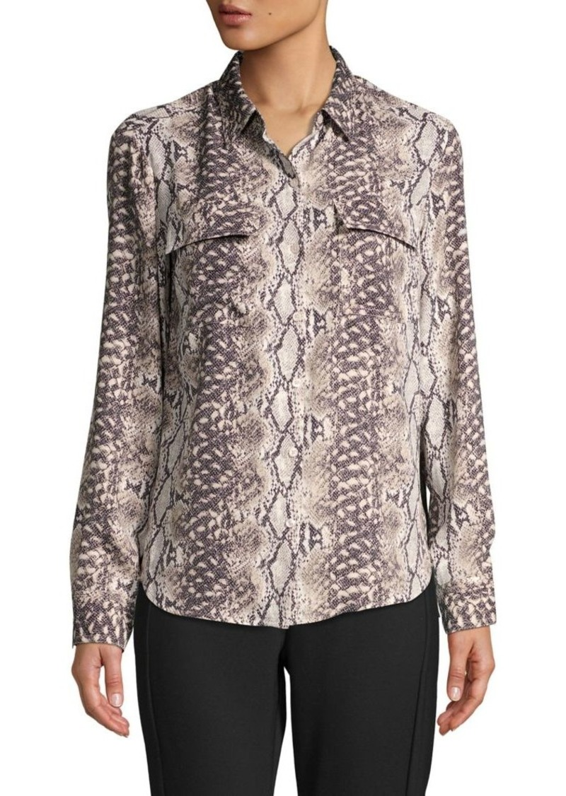 JONES NEW YORK Snakeskin-Print Shirt