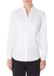 Jones New York Solid Button-Up Cotton Shirt