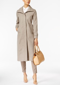 Jones New York Stand-Collar Wool Maxi Coat