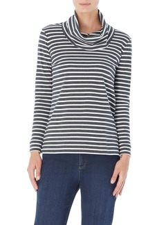 Jones New York Stripe Cowl Neck Top