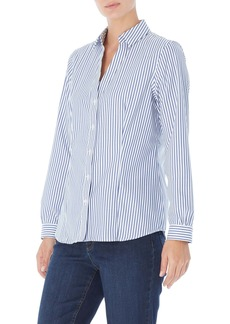 Jones New York Stripe Easy Care Button-Up Shirt