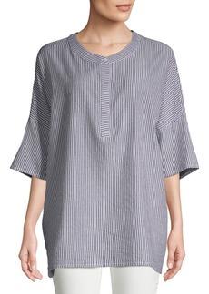 JONES NEW YORK Striped Cotton Tunic