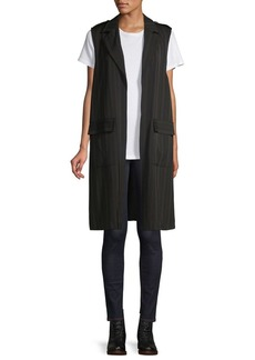 JONES NEW YORK Striped Drapey Vest