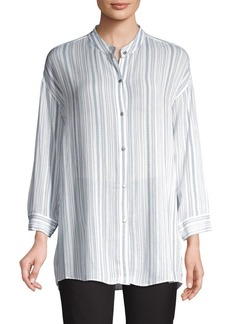 JONES NEW YORK Striped Long-Sleeve Top