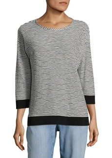 JONES NEW YORK Striped Roundneck Top