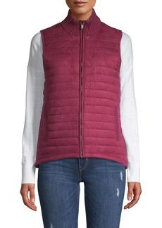 JONES NEW YORK Textured Cotton-Blend Vest