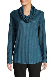 JONES NEW YORK Textured Cowlneck Top
