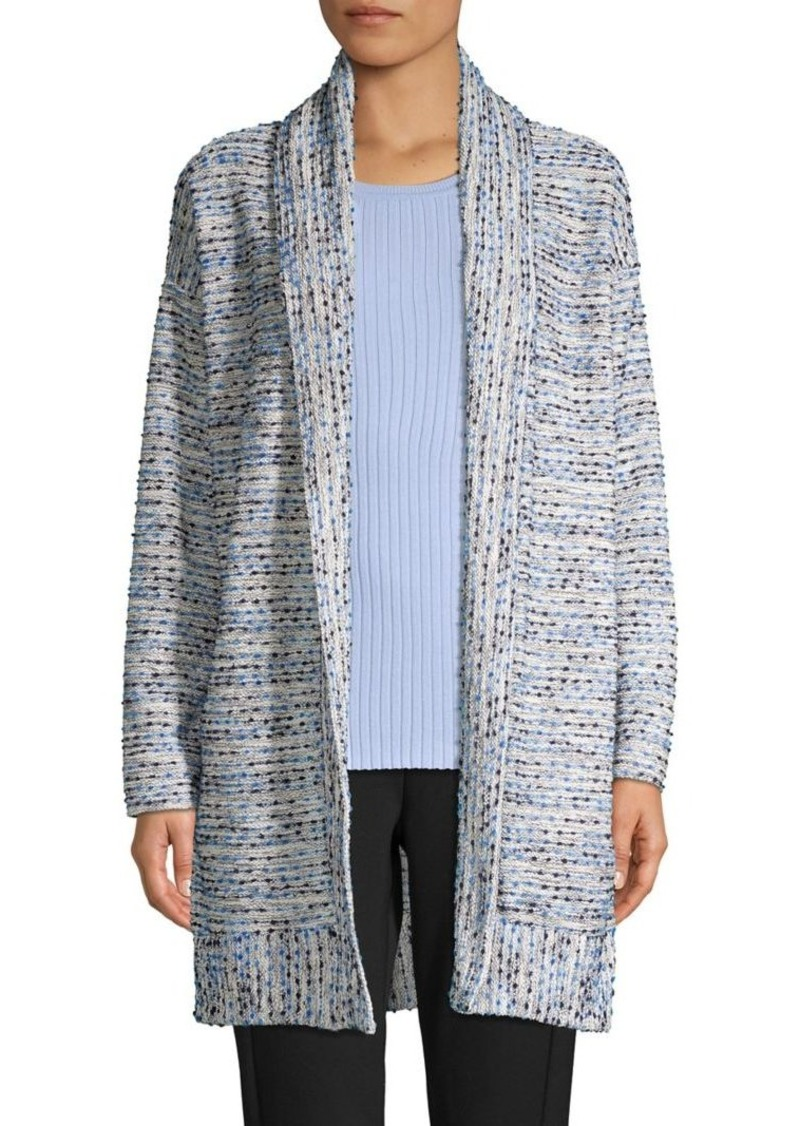 JONES NEW YORK Textured Striped Cardigan