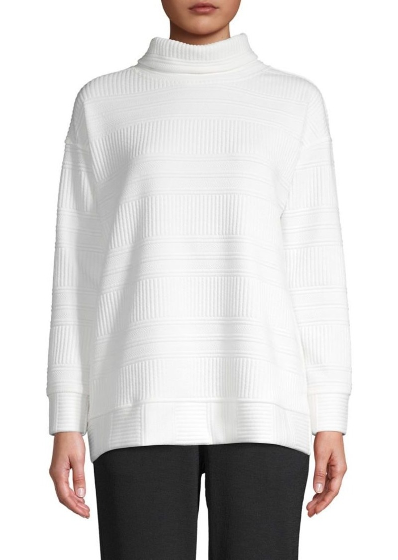JONES NEW YORK Textured Turleneck Top
