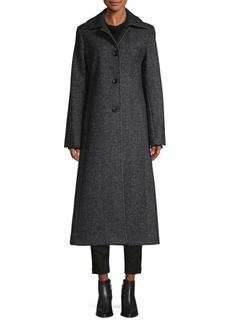 JONES NEW YORK Textured Wool-Blend Coat