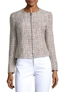 JONES NEW YORK Textured Zip-Front Jacket