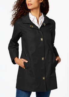 Jones New York Turnkey Hooded Raincoat