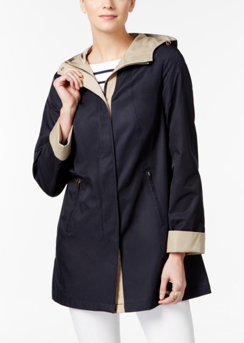 bd47cde397f2 Jones New York Jones New York Two-Tone Hooded Raincoat